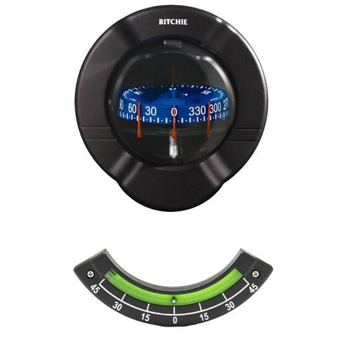 Ritchie SR-2 Venture Sail Boat Compass w-Clinometer - Bulkhead Mount - Black [SR-2]-Ritchie-Point Supplies Inc.