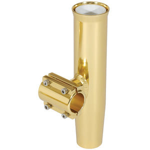 "Lee's Clamp-On Rod Holder - Gold Aluminum - Horizontal Mount - Fits 1.315"" O.D. Pipe [RA5202GL] - Point Supplies Inc."