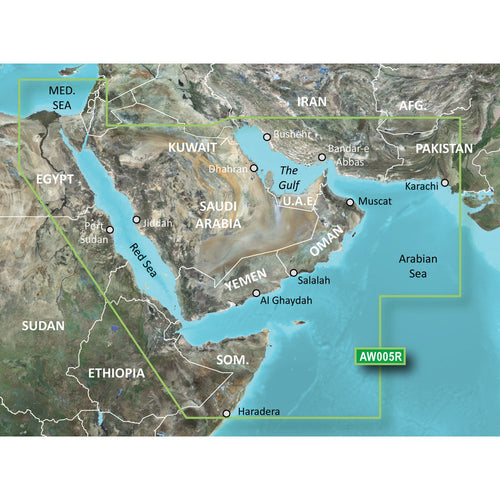 Garmin BlueChart g2 Vision HD - VAW005R - The Gulf & Red Sea - microSD-SD [010-C0924-00] - point-supplies.myshopify.com