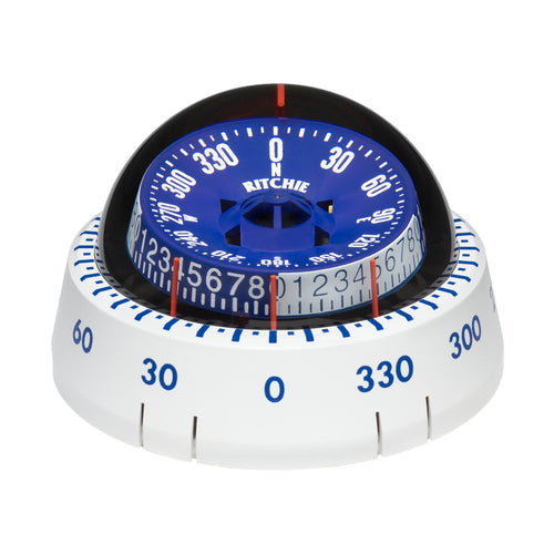 Ritchie XP-98W X-Port Tactician Compass - Surface Mount - White [XP-98W]-Ritchie-Point Supplies Inc.