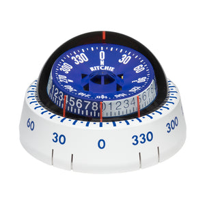 Ritchie XP-98W X-Port Tactician Compass - Surface Mount - White [XP-98W] - Point Supplies Inc.