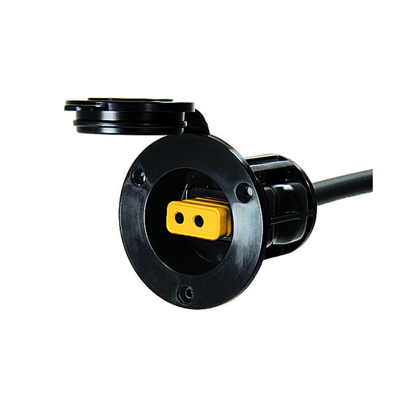 Cannon Flush Mount Power Port - Black [1903012] - Point Supplies Inc.