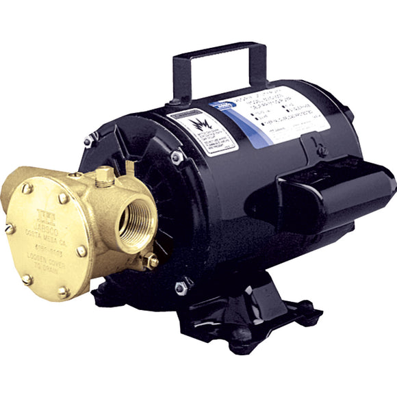 Jabsco Utility Pump w/Open Drip Proof Motor - 115V [6050-0003] - Point Supplies Inc.