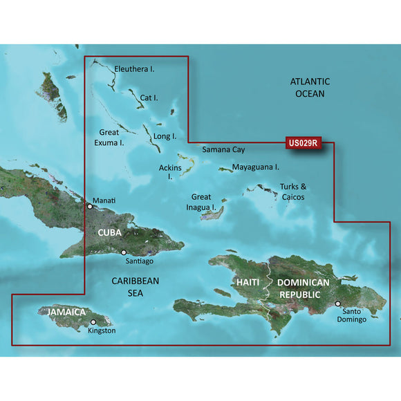 Garmin BlueChart g3 HD - HXUS029R - Southern Bahamas - microSD/SD [010-C0730-20] - Point Supplies Inc.