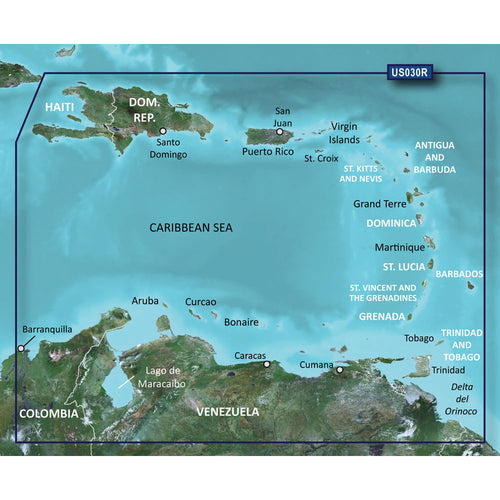Garmin BlueChart g2 HD - HXUS030R - Southeast Caribbean - microSD-SD [010-C0731-20] - point-supplies.myshopify.com
