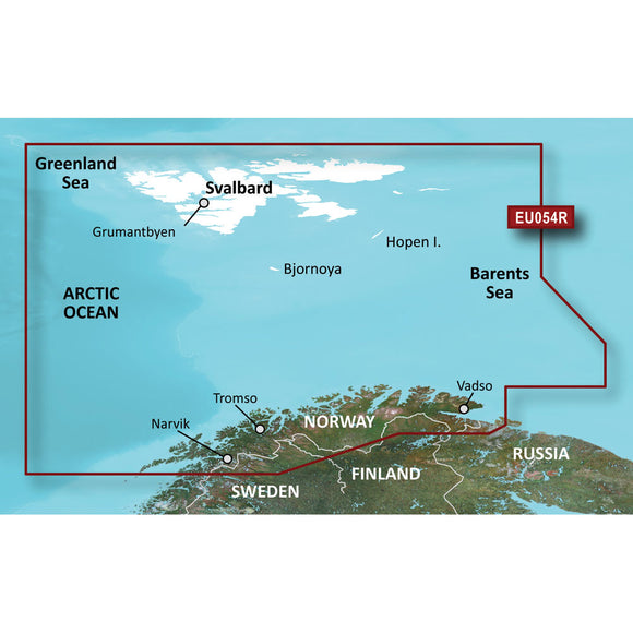 Garmin BlueChart g3 HD - HXEU054R - Vestfjd - Svalbard - Varanger - microSD/SD [010-C0790-20] - Point Supplies Inc.