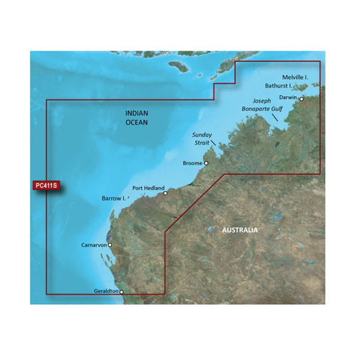 Garmin BlueChart g2 HD - HXPC411S - Geraldton To Darwin - microSD-SD [010-C0869-20] - point-supplies.myshopify.com