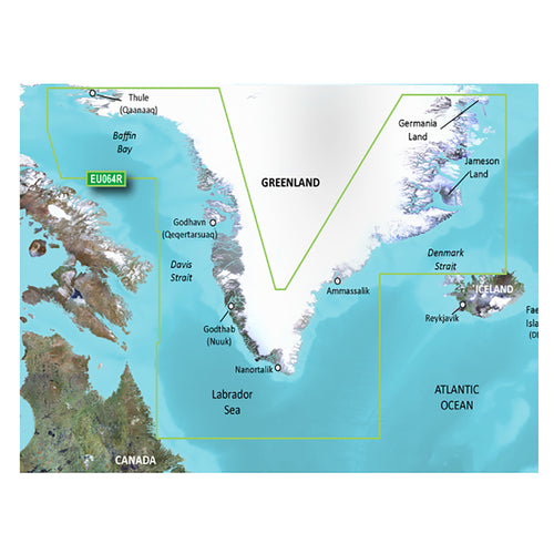 Garmin BlueChart g3 Vision HD - VEU064R - Greenland - microSD-SD [010-C1001-00] - point-supplies.myshopify.com