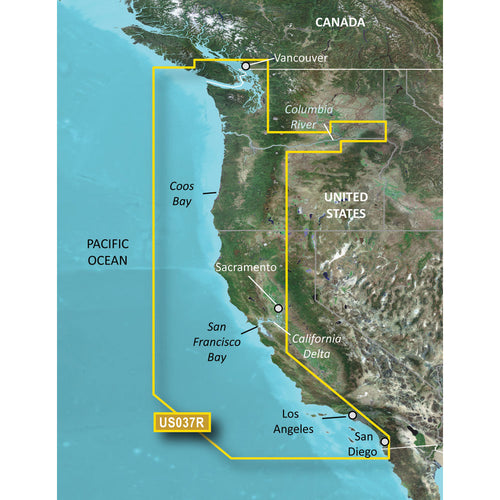 Garmin Bluechart g3 Vision HD - VUS037R - Vancouver - San Diego - microSD-SD [010-C1003-00]-Garmin-Point Supplies Inc.