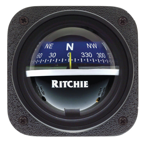 Ritchie V-537B Explorer Compass - Bulkhead Mount - Blue Dial [V-537B]-Ritchie-Point Supplies Inc.