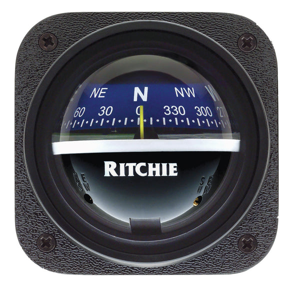 Ritchie V-537B Explorer Compass - Bulkhead Mount - Blue Dial [V-537B] - Point Supplies Inc.
