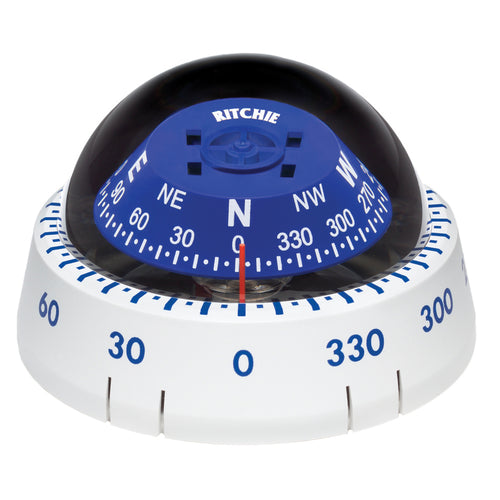 Ritchie XP-99W Kayaker Compass - Surface Mount - White [XP-99W] - point-supplies.myshopify.com