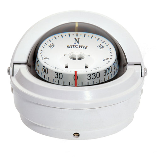 Ritchie S-87W Voyager Compass - Surface Mount - White [S-87W]-Ritchie-Point Supplies Inc.