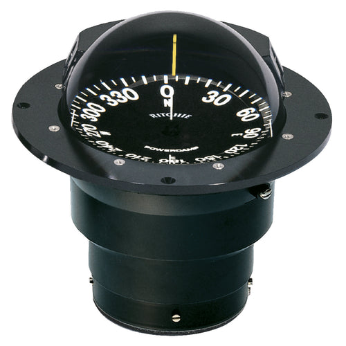 Ritchie FB-500 Globemaster Compass - Flush Mount - Black - 12V - 5 Degree Card [FB-500]-Ritchie-Point Supplies Inc.