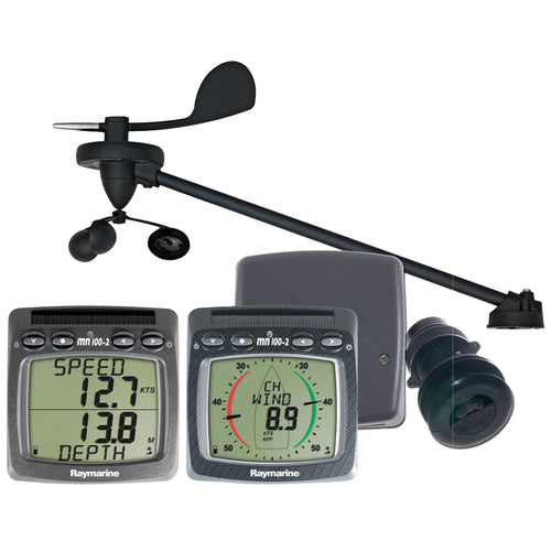Raymarine Wireless Wind, Speed & Depth System w-Triducer [T108-916] - point-supplies.myshopify.com