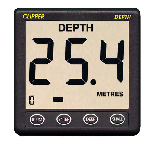 Clipper Depth Instrument w-Thru Hull Transducer & Cover [CL-D] - point-supplies.myshopify.com