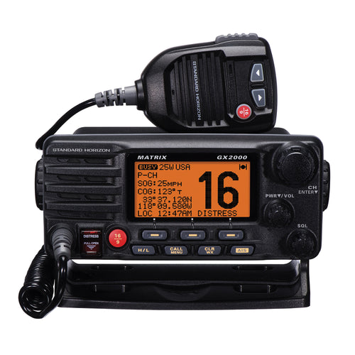 Standard Horizon Matrix GX2000 VHF w/Optional AIS Input 25W PA [GX2000B] Standard Horizon Point Supplies Inc.