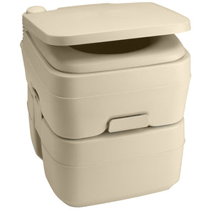 Dometic 965 Portable Toilet w/Mounting Brackets- 5 Gallon - Parchment [311096502]