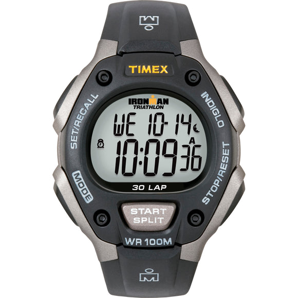 Timex Ironman Triathlon 30 Lap - Black/Silver [T5E901] - Point Supplies Inc.