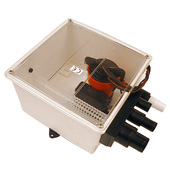 Johnson Pump 1000 GPH Multi Port Shower Pump 12V w/Switch [57151] - Point Supplies Inc.