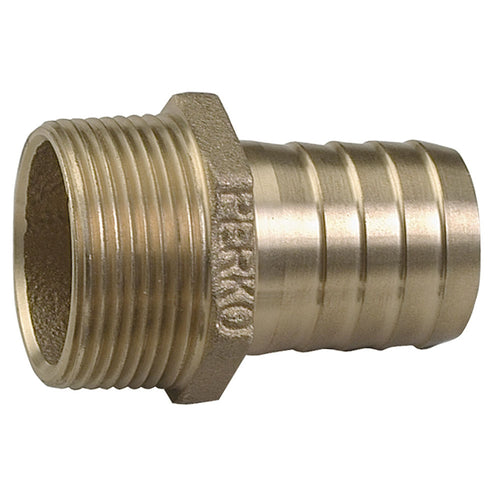 Perko 1-1-2 Pipe To Hose Adapter Straight Bronze MADE IN THE USA [0076DP8PLB] - point-supplies.myshopify.com