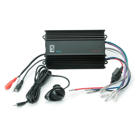 Poly-Planar 4CH, 120W, Audio Amplifier w/Volume Control [ME-60] - Point Supplies Inc.