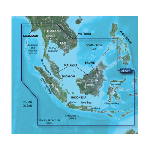 Garmin BlueChart g2 HD - HXAE009R - Singapore - Malaysia - Indonesia - microSD - SD [010-C0884-20]-Garmin-Point Supplies Inc.
