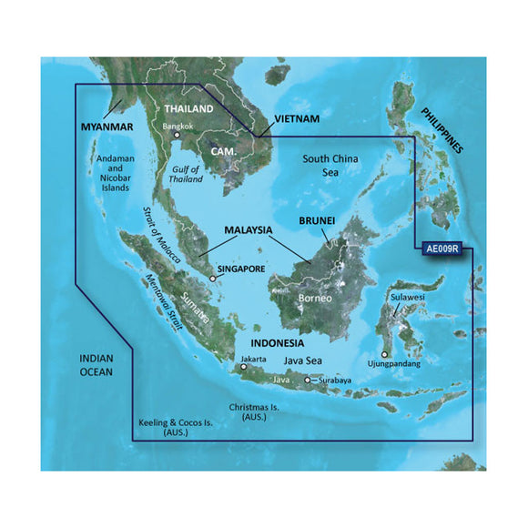 Garmin BlueChart g2 HD - HXAE009R - Singapore / Malaysia / Indonesia - microSD / SD [010-C0884-20] - Point Supplies Inc.