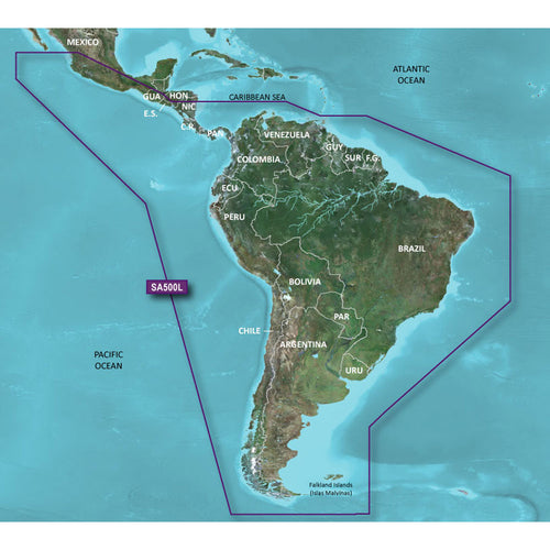 Garmin BlueChart g2 HD - HXSA600X - South America - microSD-SD [010-C1067-20] - point-supplies.myshopify.com