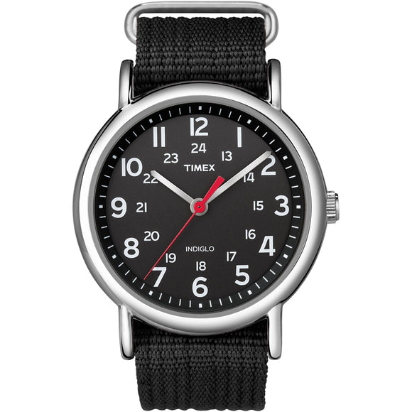Timex Weekender Slip-Thru Watch - Black [T2N647] - Point Supplies Inc.