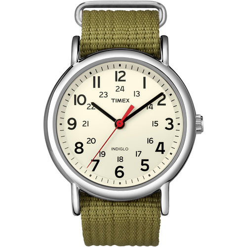 Timex Weekender Slip-Thru Watch - Olive Green [T2N651]-Timex-Point Supplies Inc.