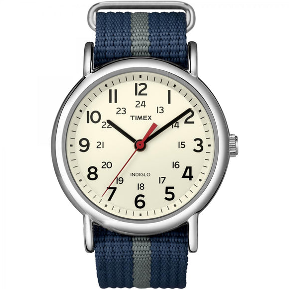 Timex Weekender Slip-Thru Watch - Navy/Grey [T2N654] - Point Supplies Inc.
