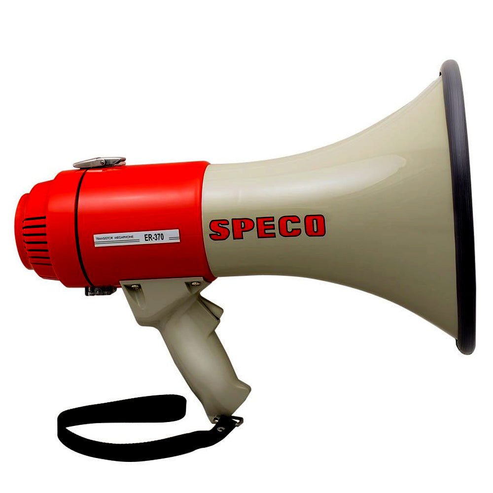 Speco ER370 Deluxe Megaphone w-Siren - Red-Grey - 16W [ER370] - point-supplies.myshopify.com