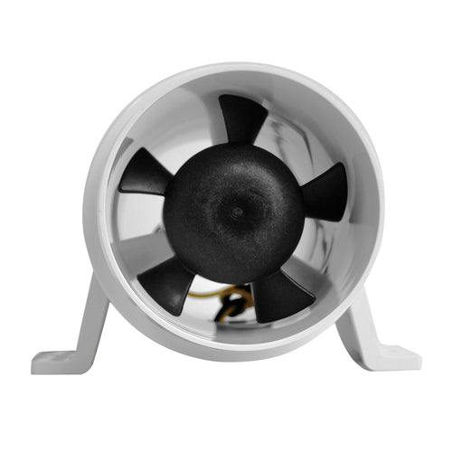 Attwood Turbo 3000 Series Water-Resitant, In-Line Blower - 12V - White [1733-4] - point-supplies.myshopify.com