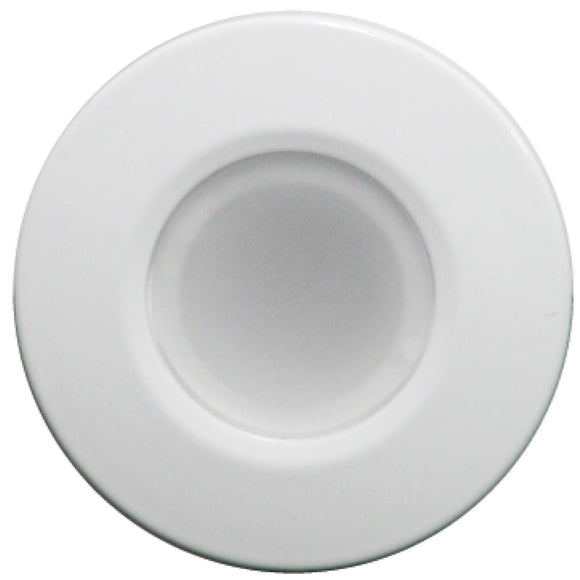 Lumitec Orbit - Flush Mount Down Light - White Finish - 4-Color Blue/Red/Purple/White Non Dimming [112520] - Point Supplies Inc.