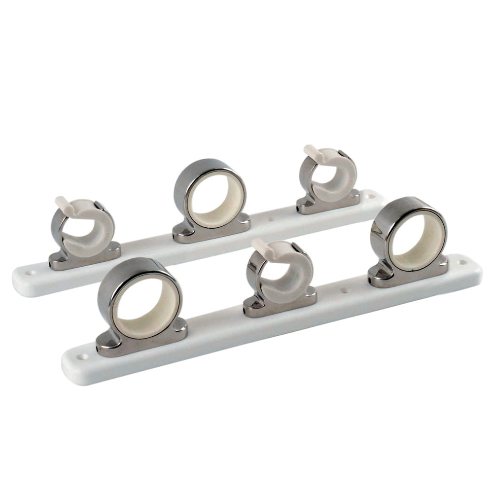 TACO 3-Rod Hanger w-Poly Rack - Polished Stainless Steel [F16-2753-1] - point-supplies.myshopify.com