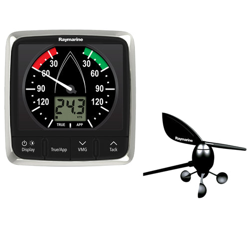 Raymarine i60 Wind Display System w-Masthead Wind Vane Transducer [E70150] - point-supplies.myshopify.com