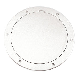 "Beckson 6"" Smooth Center Pry-Out Deck Plate - White [DP61-W] - Point Supplies Inc."