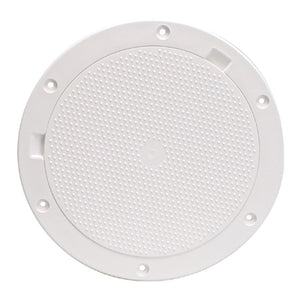 "Beckson 8"" Non-Skid Pry-Out Deck Plate - White [DP83-W] - Point Supplies Inc."