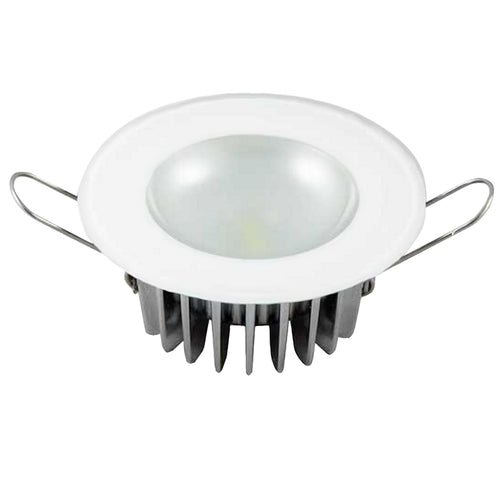 Lumitec Mirage - Flush Mount Down Light - Glass Finish-No Bezel - 4-Color Red-Blue-Purple Non Dimming w-White Dimming [113190]-Lumitec-Point Supplies Inc.