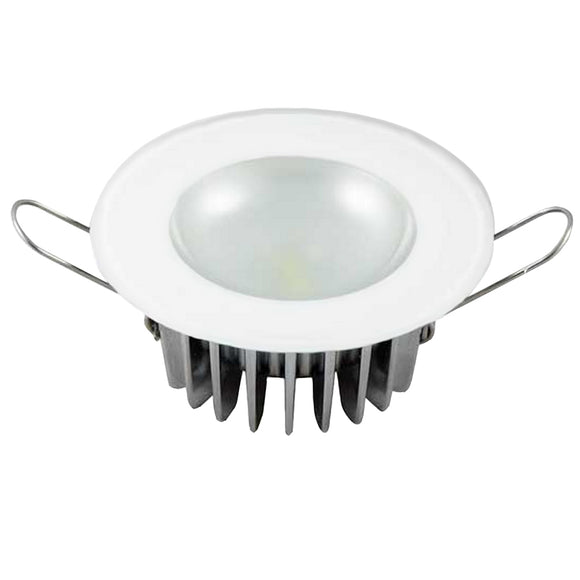 Lumitec Mirage - Flush Mount Down Light - Glass Finish/No Bezel - 4-Color Red/Blue/Purple Non Dimming w/White Dimming [113190] - Point Supplies Inc.