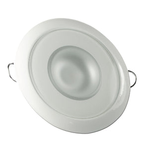 Lumitec Mirage - Flush Mount Down Light - Glass Finish/White Bezel - 3-Color Red/Blue Non-Dimming w/White Dimming [113128] - Point Supplies Inc.