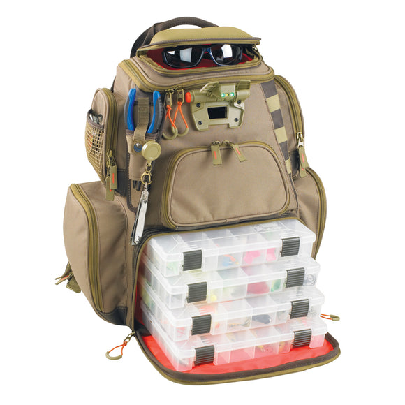 Wild River NOMAD Lighted Tackle Backpack w-4 PT3600 Trays [WT3604] - point-supplies.myshopify.com