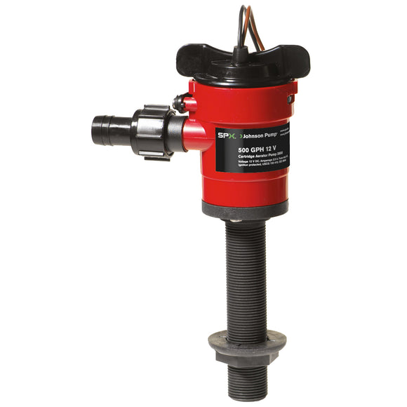 Johnson Pump Cartridge Aerator 500 GPH Straight Intake - 12V [28503] - Point Supplies Inc.