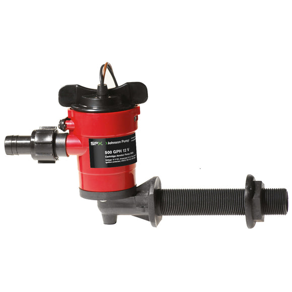 Johnson Pump Cartridge Aerator 500 GPH 90 Degree Intake - 12V [38503] - Point Supplies Inc.
