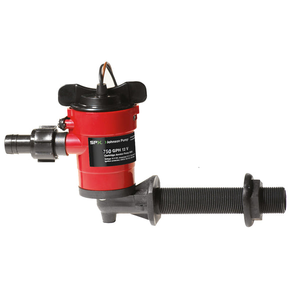 Johnson Pump Cartridge Aerator 750 GPH 90 Degree Intake - 12V [38703] - Point Supplies Inc.