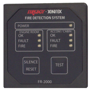 Xintex 2 Zone Fire Detection & Alarm Panel [FR-2000-R] - point-supplies.myshopify.com