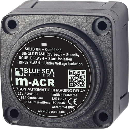 Blue Sea 7601 DC Mini ACR Automatic Charging Relay - 65 Amp [7601] - point-supplies.myshopify.com