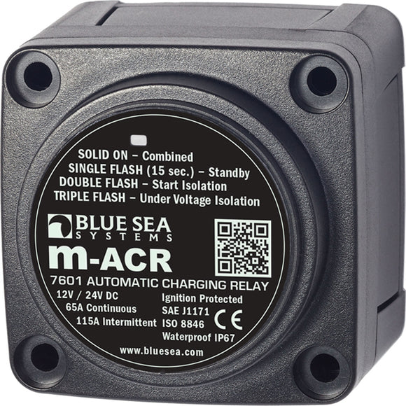 Blue Sea 7601 DC Mini ACR Automatic Charging Relay - 65 Amp [7601] - Point Supplies Inc.