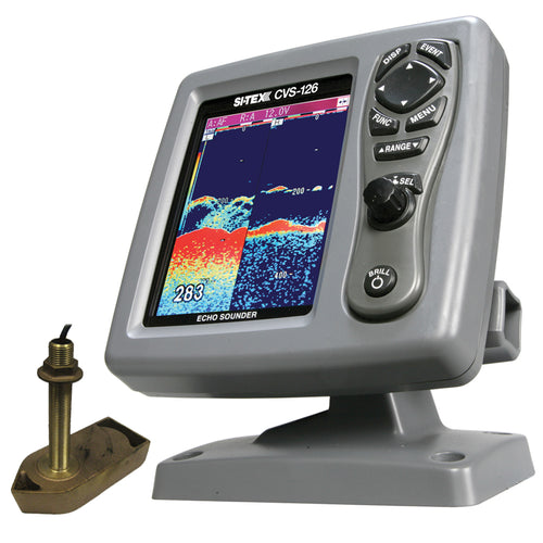 SI-TEX CVS-126 Dual Frequency Color Echo Sounder w-600kW Thru-Hull Tranducer 307-50-200T-CX [CVS-1266TH] - point-supplies.myshopify.com